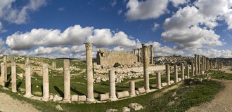 Temple of Artemis in Jerash, Jordan royalty free stock photo