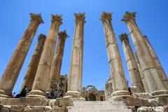 The Temple of Artemis at Jerash in Jordan. Royalty Free Stock Image