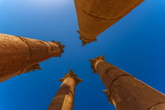 Temple of Artemis in Jerash, Jordan Stock Photos