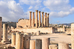 Temple of Artemis - Jerash, Jordan Stock Photos
