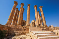 Temple of Artemis in Jerash, Jordan Royalty Free Stock Photography