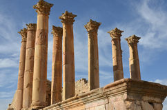 Temple of Artemis, Jerash Stock Image