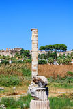 Temple of Artemis remaining column on sunny day Royalty Free Stock Photography