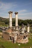 The Temple of Artemis, Sardes . Manisa - Turkey. The Temple of Artemis, Sardes Ancient City. Manisa - Turkey Stock Photo
