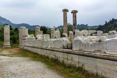 Temple of Artemis, Sardes, Manisa, Турция стоковые изображения