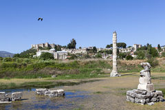 Temple of Artemis. Selcuk. Turkey. Temple of Artemis is one of the 7 wonders of the world of antiquity. Once he was located in the ancient Greek city of Ephesus Royalty Free Stock Photos