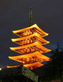 Temple in Asakusa at nigth, Tokyo, Japan Stock Photo