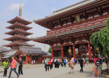 Temple Asakusa Tokyo de Sensoji Photo libre de droits