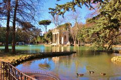 Temple of Asclepius, Villa Borghese. Temple of Asclepius at the Villa Borghese in Rome, Italy Royalty Free Stock Photo