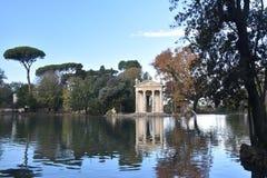 Temple of Asclepius, Villa Borghese, Rome Italy. The Temple of Asclepius, VIlla Borghese, Rome, Italy, November 30th, 2017 stock photos