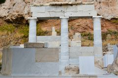 Temple of Asklepios in Acropolis Royalty Free Stock Images