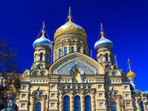 Temple of Assumption on Leytenanta Shmidta Emb. Saint-Petersburg, Russia. Stock Images