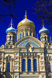 Temple of Assumption on Leytenanta Shmidta Emb. Saint-Petersburg, Russia. Royalty Free Stock Photography