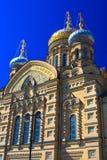 Temple of Assumption on Leytenanta Shmidta Emb. Saint-Petersburg, Russia. Royalty Free Stock Photo