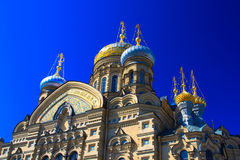 Temple of Assumption on Leytenanta Shmidta Emb. Saint-Petersburg, Russia. Royalty Free Stock Image