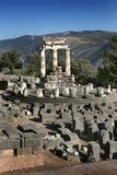 Temple of Atenea (Athena) in Deplhi, Greece Royalty Free Stock Photo