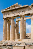 The Temple of Athena at the Acropolis Stock Image