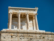 Temple of Athena in Acropolis Royalty Free Stock Photo