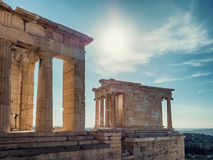 Temple of Athena in Acropolis Stock Images
