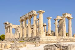 Temple of Aphaia - Aegina. The Temple of Athena Aphaia is one of the ancient architectural wonders - Aegina, Greece Royalty Free Stock Images