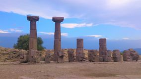 Temple of Athena in Assos. Beautiful view with stones in Turkey Stock Photo