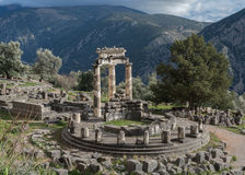 Temple of Athena in Delphi Royalty Free Stock Photos