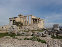 Temple of Athena Nike 1. A view of Athena Nike temple in the Athens acropolis Royalty Free Stock Photos