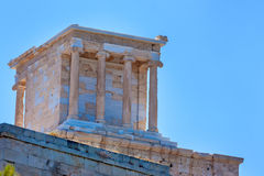 Temple of Athena Nike on the Acropolis in Athens Stock Images