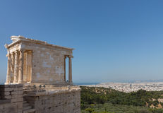 Temple of Athena Nike Acropolis Athens Royalty Free Stock Photography