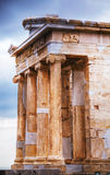 Temple of Athena Nike close up at Acropolis Stock Photo