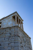 Temple of Athena Nike 2. Nike means victory in Greek, and Athena was worshiped in this form, as goddess of victory in war and wisdom, on the Acropolis in Athens royalty free stock photography