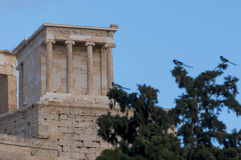 Temple of athena nike. Propylaea of acropolis Royalty Free Stock Photos