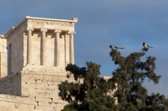 Temple of athena nike. Propylaea of acropolis Stock Images