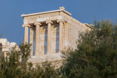 Temple of athena nike. Propylaea of acropolis Stock Image
