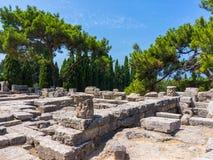 Temple of Athena Polias Stock Photos