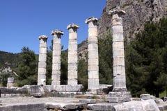 Temple of Athena at Priene, Turkey Royalty Free Stock Photos