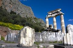 Temple of Athena Pronea, Delphi, Greece Royalty Free Stock Photos