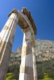Temple of Athena Pronea, Delphi, Greece Stock Image
