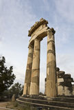 Temple of Athena pronoia at Delphi oracle Stock Images