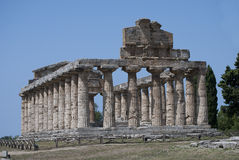 The Temple of Athena, ruins of Paestum, Italy Stock Photos