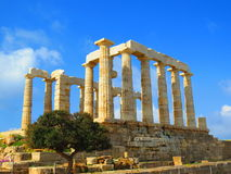 Temple in Athens Royalty Free Stock Images