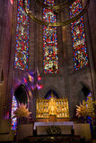 Temple of Atonement Stained Glass Altar Close Stock Images