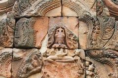 Temple au cadre cambodgien. Images libres de droits