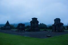 Temple au plateu de Dieng en Indonésie Images libres de droits