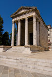Temple of Augustus. Roman temple of Augustus in Pula, Croatia royalty free stock photography