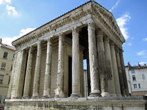 Temple of Augustus and Livia Stock Photos