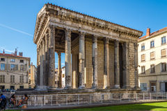 Temple of Augustus and Livia in Vienne - France Royalty Free Stock Photography