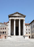 Temple of Augustus in Pula. Croatia stock photos