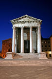 Temple of Augustus in Pula. Istria, well-preserved Roman temple, dedicated to the first Roman emperor Augustus royalty free stock photography