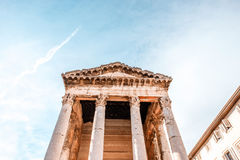 Temple of Augustus in Pula Stock Images